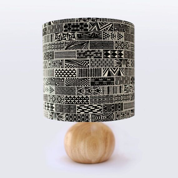 Love Emily Bucknell's hand-printed lamp shades.
