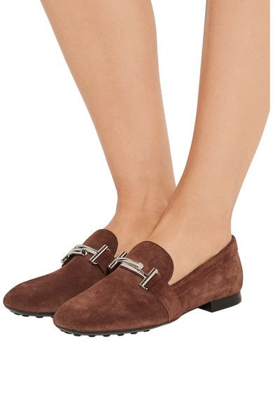 Tod's - Suede Loafers - Brown