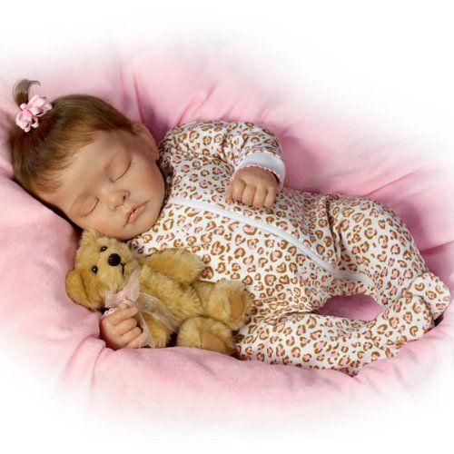 Sweet Dreams Ellie Lifelike Doll With Plush Teddy Bear