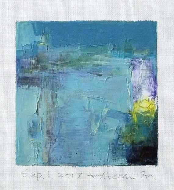 Sep. 1 2017  Original Abstract Oil Painting  9x9 painting