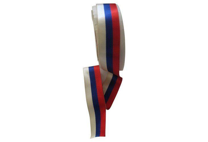 Red, White & Blue Silk Ribbon, 5 Yds