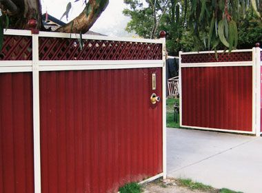 images of corrugate metal fences | ... Fencing, Steel Privacy, Mini Orb, Tubular Fencing, Picket fencing