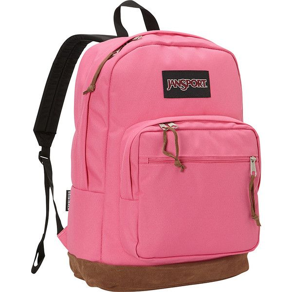 JanSport Right Pack Laptop Backpack ($80) ❤ liked on Polyvore featuring bags, backpacks, laptop backpacks, pink, pink bag, backpack bag, pink backpack, jansport daypack and laptop bag