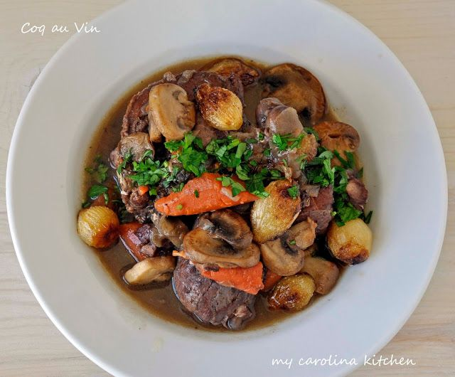 Ina Garten's  Coq au Vin – a French Classic, simple to make & impressive enough for guests