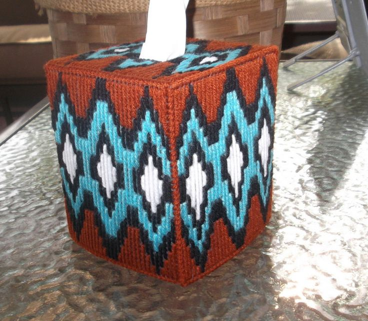 A personal favorite from my Etsy shop https://www.etsy.com/listing/266965475/southwestern-tissue-box-cover
