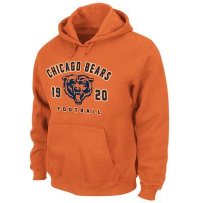 Chicago Bears Orange Logo Fleece Hooded Sweatshirt