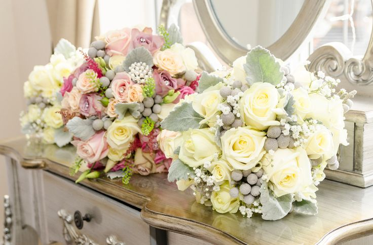 The Bridal bouquet and Bridesmaids flowers