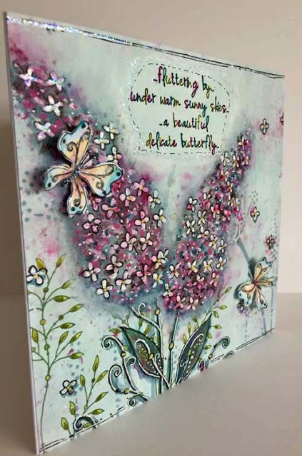PaperArtsy: 2017 #3 Buddleia & Butterflies {by Kay Carley}