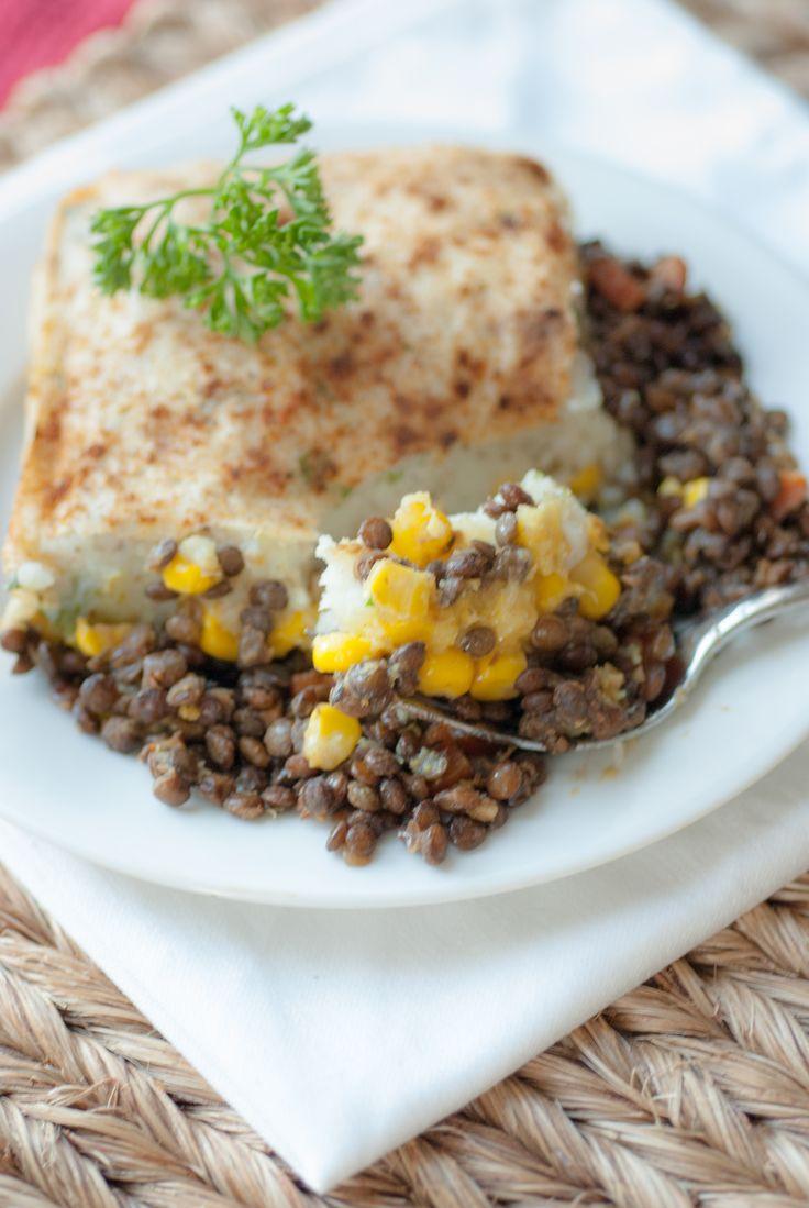 vegan french lentil shepards pie