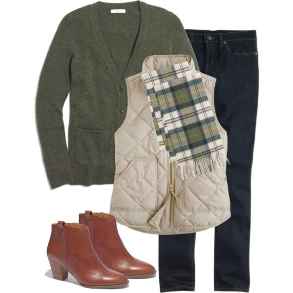 Madewell Coffeeshop Cardigan & Barbour Scarf