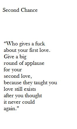 give a big round of applause for your second love
