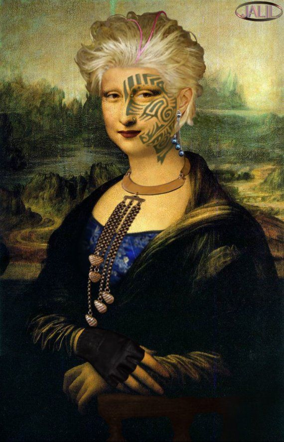Joconde Mona Lisa la mariée Marocaine