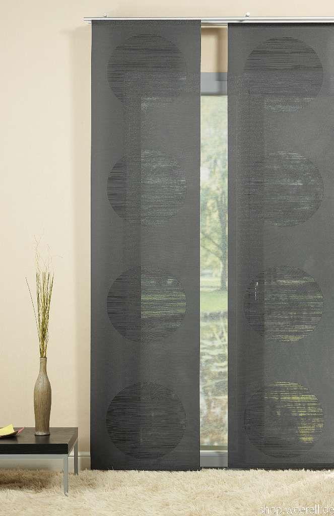 Flächenvorhang Unikum 841801 -> moderner, halbtransparenter Flächenvorhang (Raumteiler) in Scherlioptik mit Alupaneelwagen und Beschwerungsstab thermisch geschnittener Seitenabschluss ca. 245cm hoch x ca. 60cm breit Material: 100% Polyester -> 28,45€