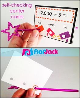 Classroom Freebies: Self-Checking Center Cards