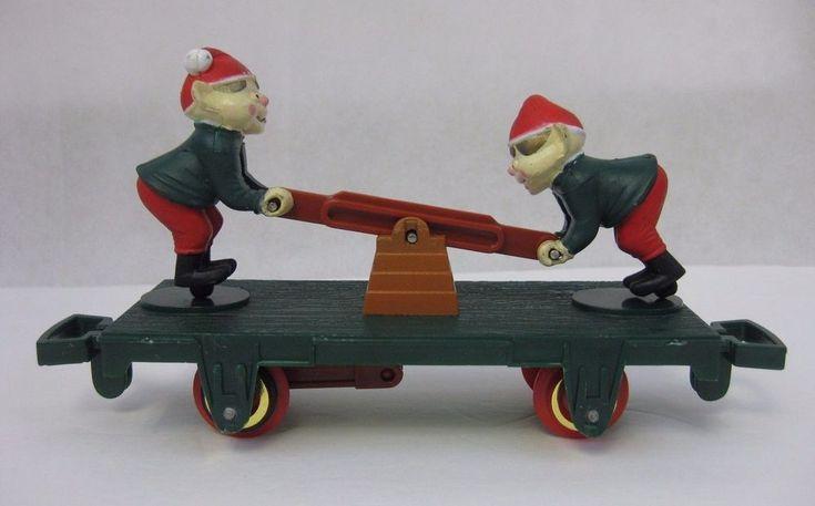 Vtg TOY STATE 1993 ELF Train Car Northpole Christmas Magic Retro