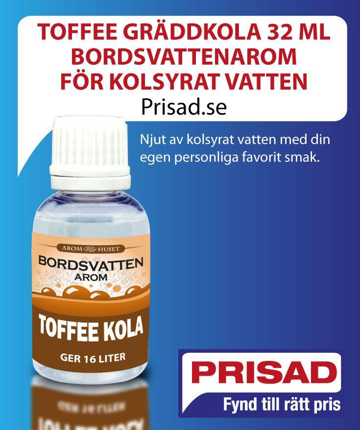 Njut av kolsyrat vatten med din egen personliga favorit smak av Toffee.