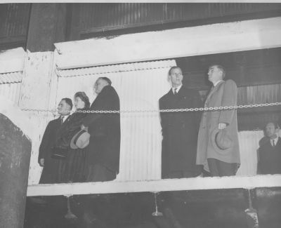 Princess Elizabeth & Prince Philip visit Sydney Steel, 1951. Cape Breton Centre for Heritage & Science collection, Sydney