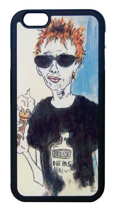 【Radiohead/Thom Yorke】レディオヘッド/トム・ヨーク アイスクリーム イラスト iPhone6/6s ハードカバー(B)