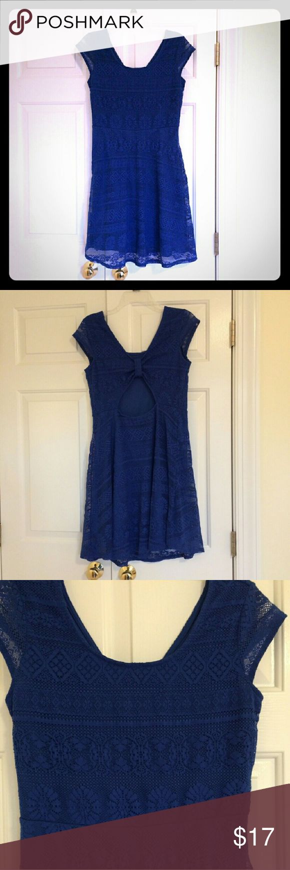 Cute Blue Dress Royal Blue with a cute cut out in the back and a scoop neckline Xhilaration Dresses Mini
