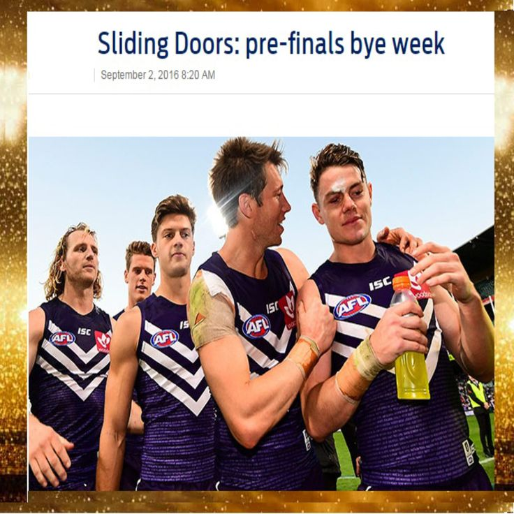 Sliding Doors: pre-finals bye week: http://goo.gl/zAgff3