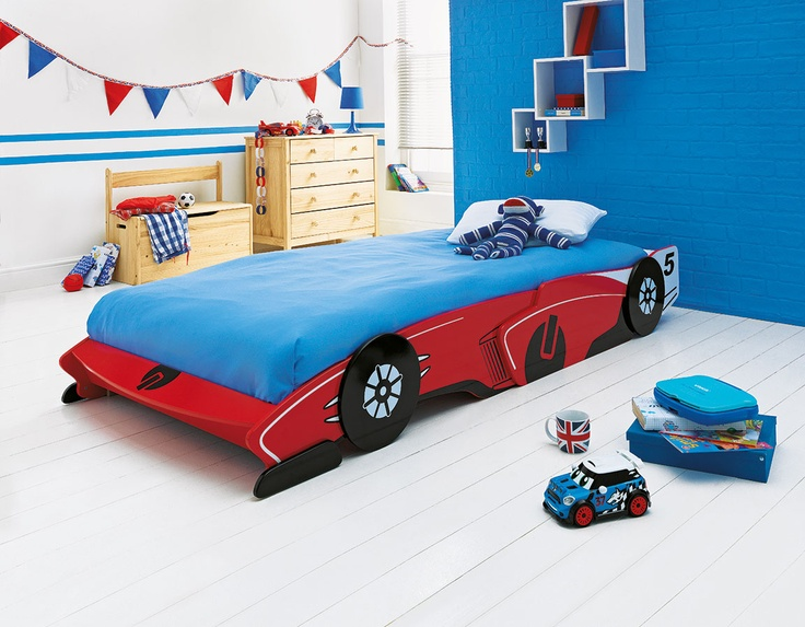 This fun red-painted children\'s racing car bed from Argos is ...