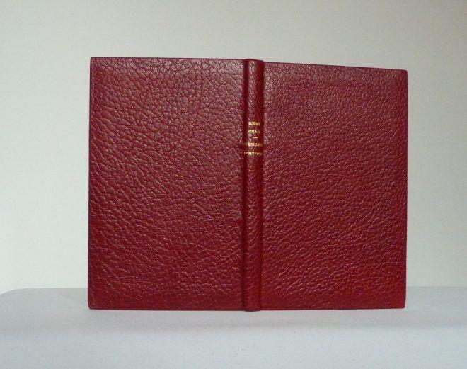 Feuillets d'Hypnos de René Char, reliure plein cuir maroquin janseniste rouge.