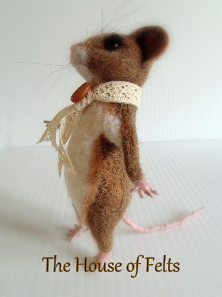 My own #needlefeltedmouse 4 1/2 inches tall by Malachai Beesley #houseoffelts