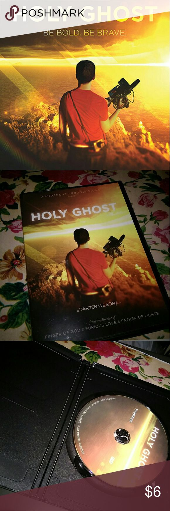 Holy Ghost Film Movie DVD Holy Ghost is a 2014 American Christian documentary film written and directed by Darren Wilson, to take the viewer to locations around the world to see if the Holy Spirit can really lead a film.  *All my DVD's are in working condition, may have one or two minimal scratches, or sometimes none on it.* Other