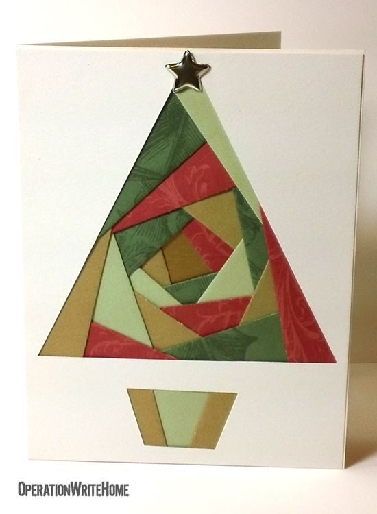 Trees Cards, Christmas Cards, Cards Folding, Folding Cards, Greeting ...