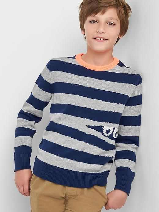 A fun sweater for the boys is always good - keep them happy (enough) for the pictures!