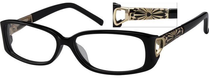 4840 Full Rim Acetate Frames with Design on Temples-XU7SPT7y