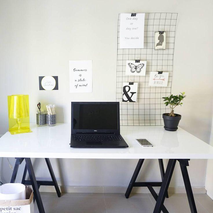 "Home office- Athanasia (@ohsohomey) στο Instagram: ""Work work work . . . .…"""