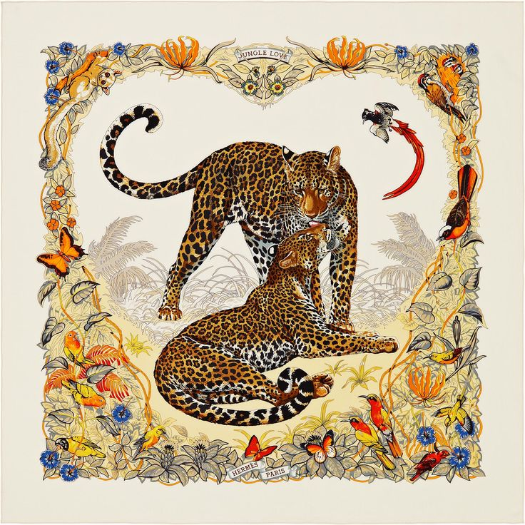 140 x 140 cm shawl Hermès | Jungle Love by Robert Dallet SS 2014