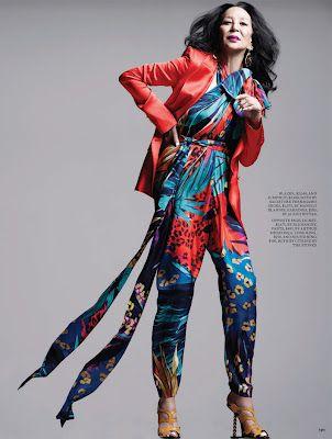 82-year-old China Machado models for Fashion Magazine.