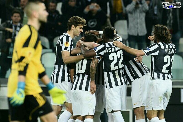 Leg 2 quarter final UEL  Juventus 2-1 lyon Esulranza goal claudio marchissio cc lopes hahaha