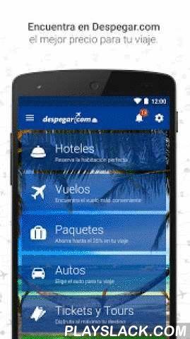 Despegar.com Hoteles Y Vuelos  Android App - playslack.com ,  Descargue Gratis en su Android la aplicación de Despegar.com y encuentre todo lo que necesita para su viaje. Acceda a ofertas exclusivas entre más de 150.000 Hoteles y 500 Aerolíneas de todo el mundo, consulte el estado de su vuelo, reserve hoteles cercanos a su ubicación, compre paquetes (vuelos + hotel) y ahorre hasta un 20%; alquile un auto y mucho más!Compre sus pasajes aéreos, hoteles, paquetes y autos desde cualquier lugar…