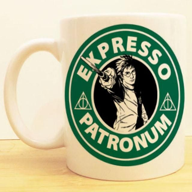 Harry Potter Coffee Mug |  Expresso Patronum Starbucks |  Deathly Hallows