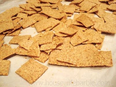 An American Housewife: Homemade Low Carb Almond Crackers (Similar to a Wheat Thin style)