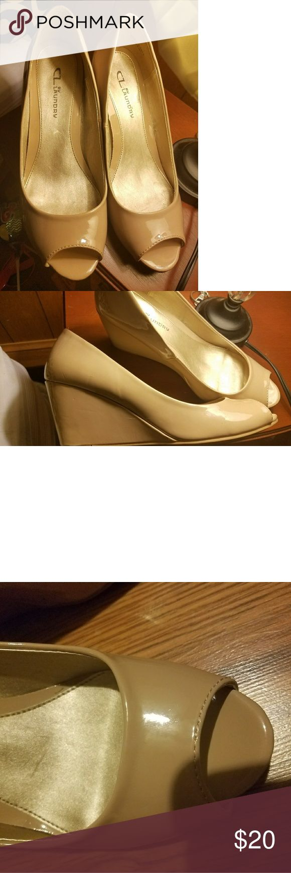 Chinese Laundry wedge pump nude Beautiful like new Chinese Laundry Nichelle wedge pump nude sz 9.5. Chinese Laundry Shoes Wedges