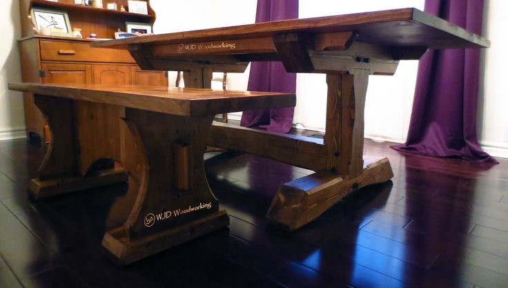 Bench and companion Timberframe Table