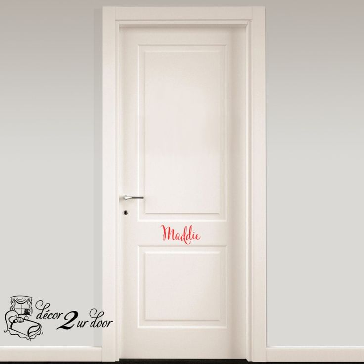 Personalize your door with custom monograms and names lots of colors and fonts!