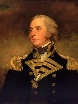 Vice-Admiral Lord Hugh Seymour (1759 – 1801) was a senior British Royal Navy officer of the late 18th century, fifth son of Francis Seymour-Conway, 1st Marquess of Hertford. Known for being both a prominent society figure and a highly competent naval officer.Served during the American Revolutionary and French Revolutionary Wars and later in his career performed a period of shore duty on the Admiralty board. Descendant of Lady Katherine Grey, and collaterally, Jane Seymour.