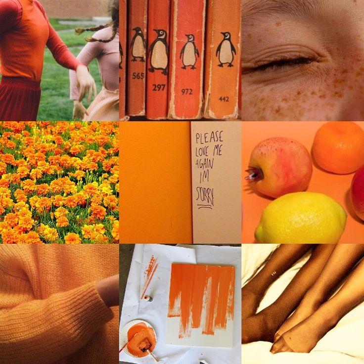 "happy-sun-emoji: ""jonkx: "" orange sapphic moodboard "" @skygrl"""