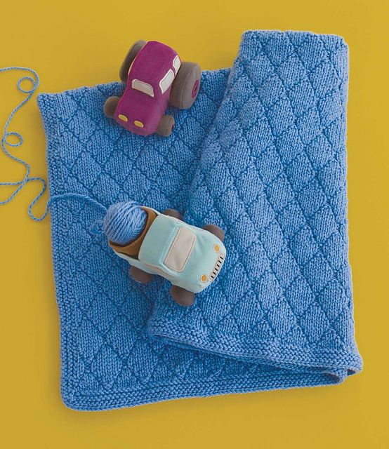 Ravelry Knitting Patterns For Baby Blankets : Ravelry: Blue Diamonds pattern by Amanda Blair Brown ...