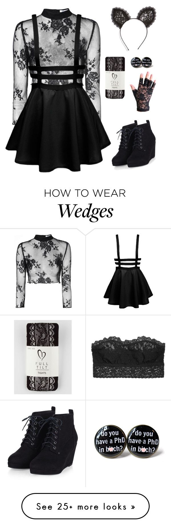 """""""Lace"""" by cora-mccutcheon on Polyvore featuring Hanky Panky, Glamorous, Cara…"""