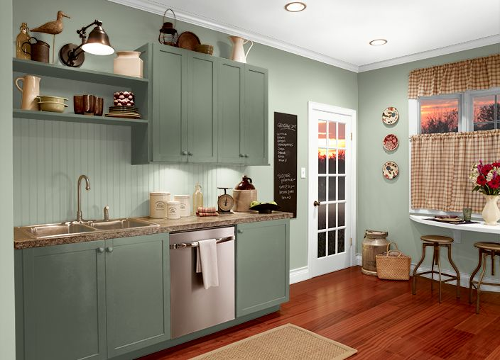 12 best images about emeralds on pinterest mesas green and paint colors - Behr kitchen paint ...
