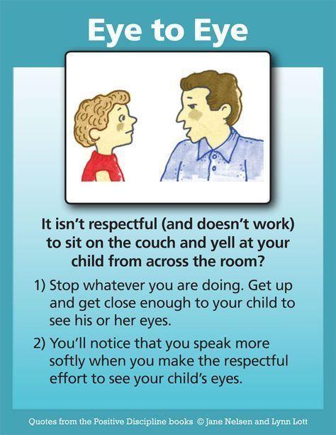 Positive Discipline: Eye To Eye #parentingteens #ParentingSkills