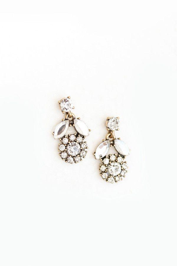 Lori Tulip Crystal Earrings – Morning Lavender