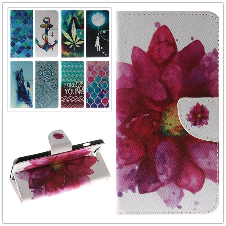 "Fashion PU Leather Flip Case Fashion Painting Cover For Apple iPhone 7 Plus 5.5"" Card Slot Wallet Cases With Stand Function"