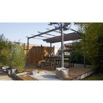 Tonnelle Autoportante Anet 12m Leroy Merlin Petits Espaces En Plein Air Gloriette Bois Et Terrasse